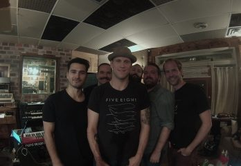 Recording with Michael Malarky of Vampire Diaries